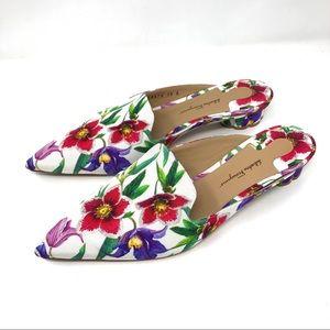 """SALVATORE FERRAGAMO """"Maida"""" floral mules"""